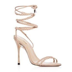 Schutz Lany Suede Ankle Tie High Heel Sandals 7.5